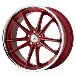 Asanti Wheels ABL-23 Delta - Candy Red With Chrome Lip Rim