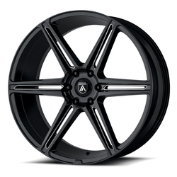 Asanti Wheels ABL-25 Alpha 6 - Gloss Black Milled