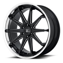 Asanti Wheels ABL-29 - Gloss Black/Milled/Chrome Rim