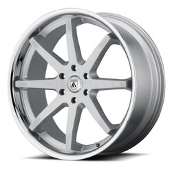 Asanti Wheels ABL-32 Kaiser - Brushed Silver with Chrome Lip Rim