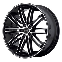 Asanti Wheels ABL-10 Pollux - Machined Face with Black Lip - 22x9