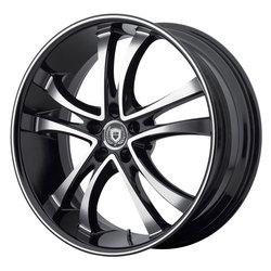 Asanti Wheels ABL-6 - Machined Face w/Black Lip Rim - 20x10