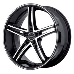 Asanti Wheels ABL-7 - Machine Face w/Black Lip - 22x10