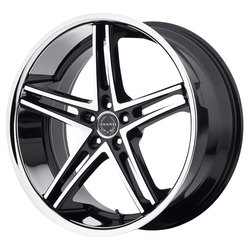 Asanti Wheels ABL-7 - Machined Face w/ SS Lip - 22x10