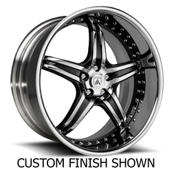 Asanti Wheels DA144 - Custom Finishes Rim - 20x15.5