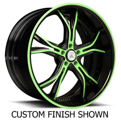 Asanti Wheels DA176 - Custom Finishes Rim - 20x15.5