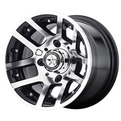 Fairway Alloy Wheels FA121 Illusion - Machined Gloss Black - 10x7