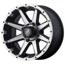 Fairway Alloy Wheels FA136 Rebel - Machined Matte Black - 14x6.5