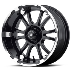 Fairway Alloy Wheels FA134 Sixer - Machined Matte Black - 14x6.5