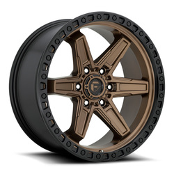 Fuel Wheels Fuel Wheels Kicker D699 - Matte Bronze/Black Bead