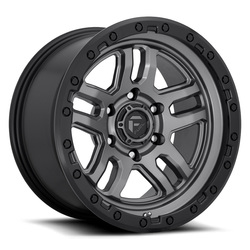 Fuel Wheels Fuel Wheels Ammo D701 - Matte Gunmetal/Black Bead