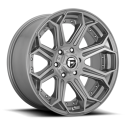 Fuel Wheels D705 Siege - Brushed Gunmetal Tinted Clear Rim