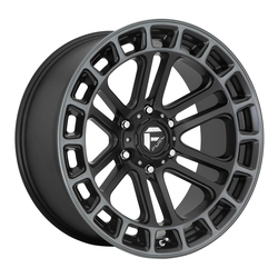 Fuel Wheels D720 Heater - Matte Black Double Dark Tint Machined Rim