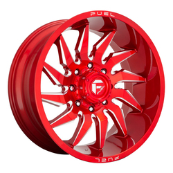 Fuel Wheels D745 Saber - Candy Red Milled Rim