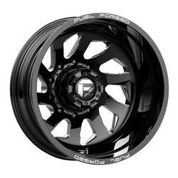 Fuel Wheels Mono DD39 Dually Rear - Black Milled Rim