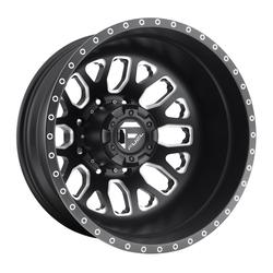 Fuel Wheels Mono DE192 Dually Rear - Black Milled Rim