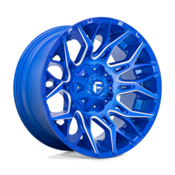 Fuel Wheels Twitch D770 - Anodized Blue Milled Rim