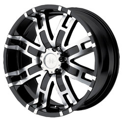 Helo Wheels HE835 - Gloss Black Machined
