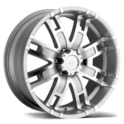 Helo Wheels HE835 - Silver Machined