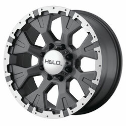 Helo Wheels HE878 - Dark Silver With Machined Flange Rim - 18x9