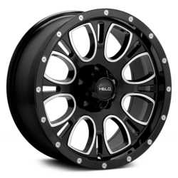 Helo Wheels HE879 - Gloss Black Machined & Milled