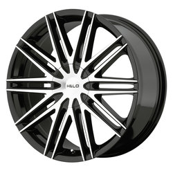 Helo Wheels HE880 - Gloss Black w/Machined Face Rim - 18x8