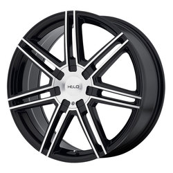 Helo Wheels HE884 - Gloss Black With Machined Face Rim - 20x8