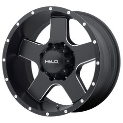 Helo Wheels HE886 - Satin Black w/Milled Spokes and Flange