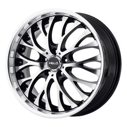 Helo Wheels HE890 - Gloss Black w/Machined Face