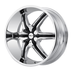 Helo Wheels HE891 - Chrome w/Gloss Black and Chrome Accents Rim - 24x9