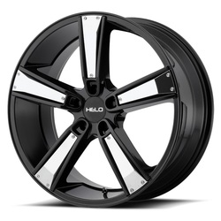 Helo Wheels HE899 - Satin Black w/Gloss Black & Chrome Inserts Rim - 17x7