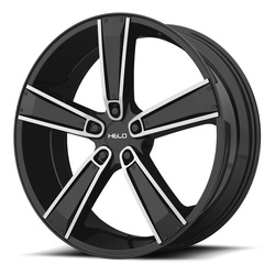 Helo Wheels HE899 - Satin Black Machined w/Gloss Black & Chrome Insert Rim - 17x7
