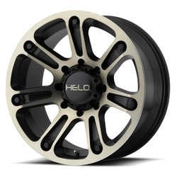 Helo Wheels HE904 - Satin Black Machined With Dark Tinted Clear Rim - 18x9
