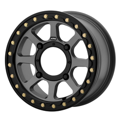 KMC Wheels KS234 Addict 2 Beadlock - Satin Gray Rim