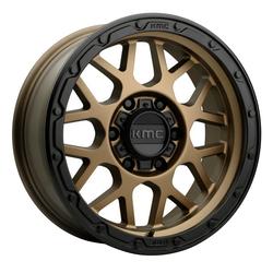 KMC Wheels KM535 Grenade Offroad - Matte Bronze Matte Black Lip Rim
