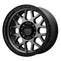 KMC Wheels KM535 Grenade Offroad - Matte Gray Matte Black Lip Rim