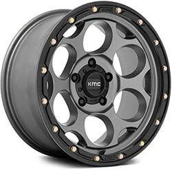 KMC Wheels KM541 Dirty Harry - Satin Gray With Black Lip Rim