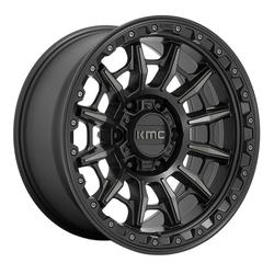 KMC Wheels KM547 Carnage - Satin Black With Gray Tint Rim