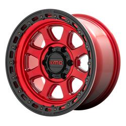 KMC Wheels KM548 - Candy Red with Black Lip Rim - 20x9