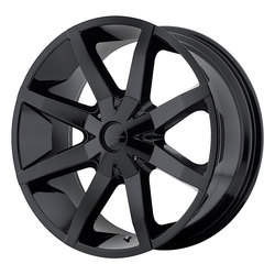 KMC Wheels KM651 Slide - Gloss Black w/Clearcoat Rim - 26x10