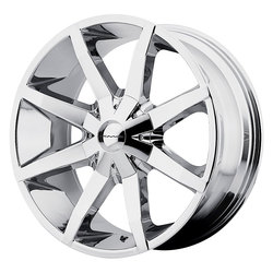 KMC Wheels KM651 Slide - Chrome Rim - 26x10