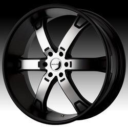 KMC Wheels KM671 Brodie - Matte Black Machined Rim