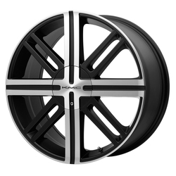 KMC Wheels KM675 Splice - Satin Black With Machined Face Rim