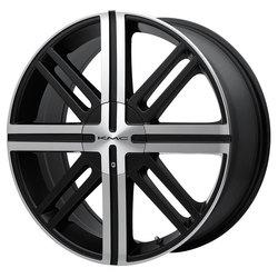 KMC Wheels KM675 Spice - Satin Black w/Machined Face Rim