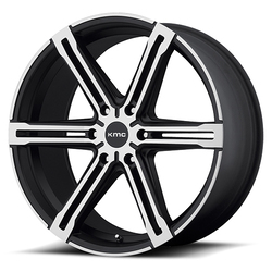 KMC Wheels KM686 Faction - Satin Black With Machined Face And Register Rim