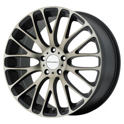 KMC Wheels KM693 Maze - Satin Black w/Machined Face and Tinted Clear