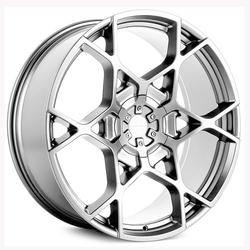 KMC Wheels KM695 Crosshair - Chrome Rim