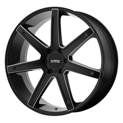 KMC Wheels KM700 Revert - Satin Black Milled Rim - 24x9.5