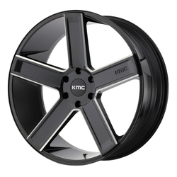 KMC Wheels KM702 Duece - Satin Black Milled Rim - 24x9.5