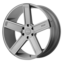 KMC Wheels KM702 Duece - Satin Grey Milled Rim - 24x9.5
